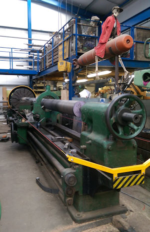 Our large 7 metre lathe