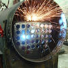 Welding in a new steam engine boiler