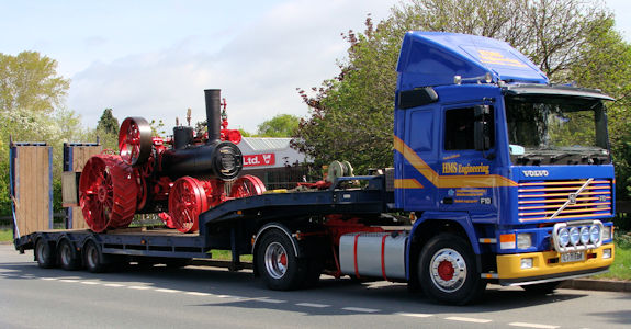 Restored Volvo F10 and Advance Steam traction engine.